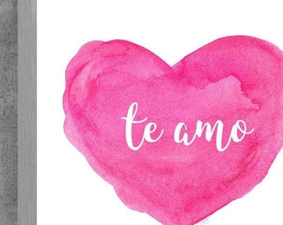 Te Amo; Newborn Gift in Pink, 8x10, 11x14  Print