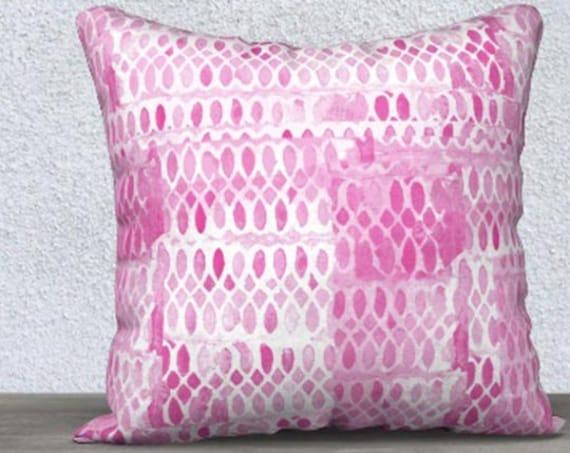 Hot Pink Decorative Pillow