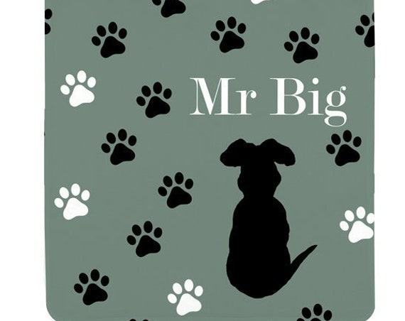 Boy Dog Blanket for Bed; Personalized Fleece Blanket in 6 colors
