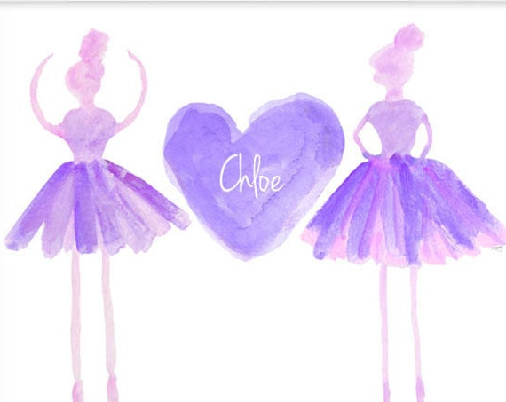 Personalized Blush Ballet Print, 11x14