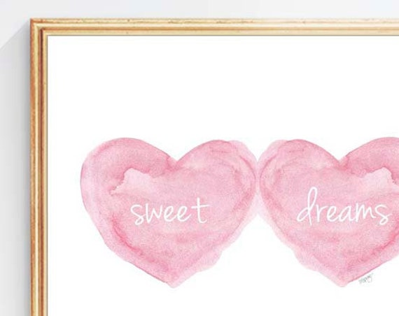 Sweet Dreams Print for Baby Room, 5x7, 8x10