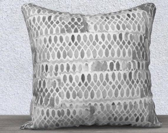 Gray Velvet Decorative Pillow Cover, 14x20, 18x18
