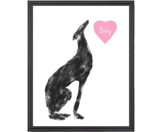 Greyhound Memorial Gift, 5x7, 8x10 Print