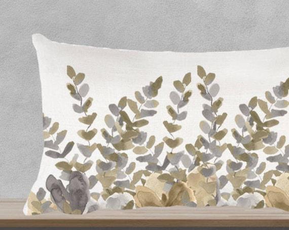 "Fern Pillow in Natural, 12""x20"""