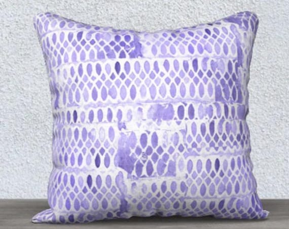 Purple Cushion Cover in Velveteen
