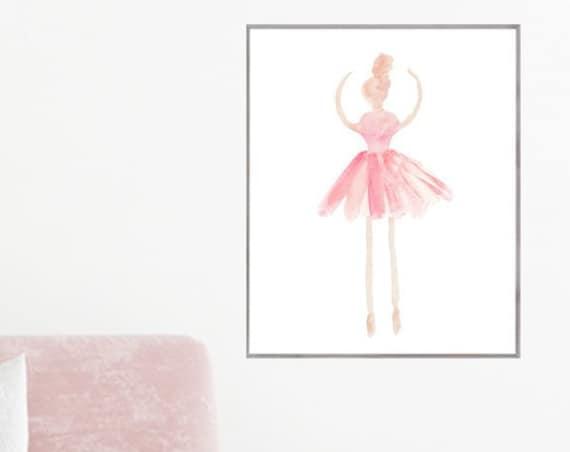 Blush Ballerina Poster, 16x20, 12x16