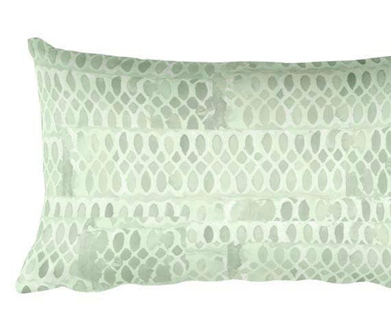 "Mint Throw Pillow for Nursery, 12""x20"""
