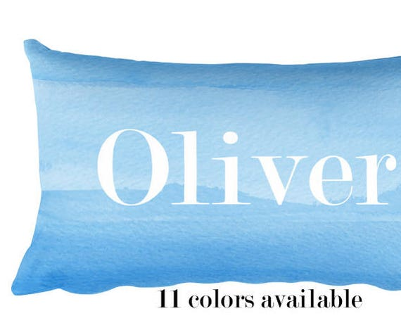 Personalized Gift for Boy, 12x20 Personalized Blue Pillow