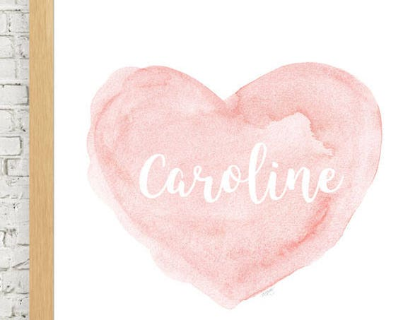 Personalized Baby Gift in Blush, 11x14 Watercolor Print