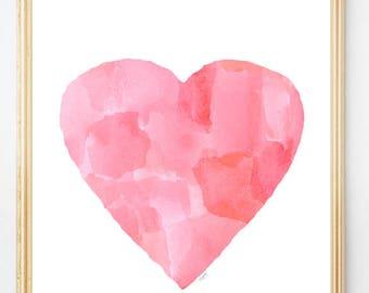 Pink Watercolor Art, Abstract Nursery Art, Pink Nursery Decor, Pink Nursery Art, Modern Nursery Art, 8x10 Watercolor, Pink Baby Nursery