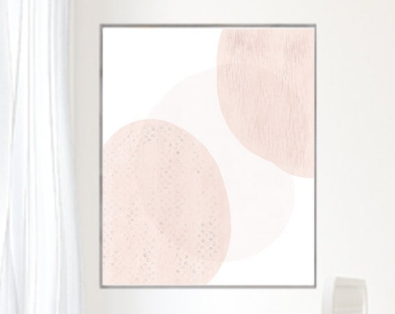 Modern Blush Print for Mid Century Girls Nursery, 16x20