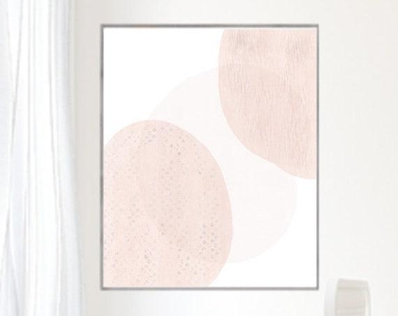 Modern Blush Print for Mid Century Girls Nursery, 16x20