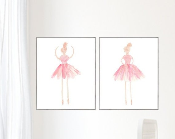 Girls Ballet Prints, 16x20 Set of 2