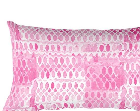 """Hot Pink Accent Pillow, 12""""x20"""""""