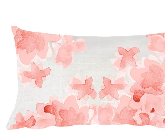 Blush Flower Nursery Pillow, 12x20