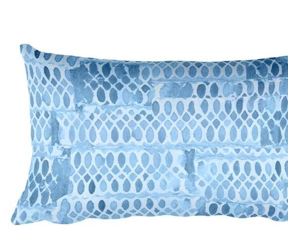 """Blue Nursery Pillow, 12""""x20"""""""