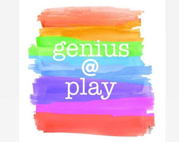 Genius at Play, 8x10 Playroom Wall Decor