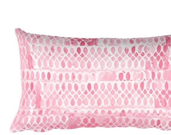 "Pink Throw Pillow for Girls, 12""x20"""