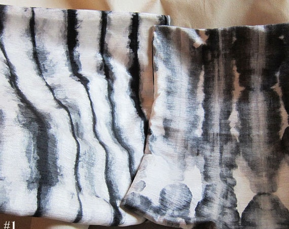 Black Designer Pillow Cover, Set of 2- 18x18 Shibori