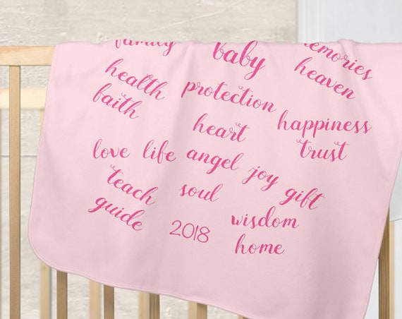 Girl's Blessings Blanket for New Mother