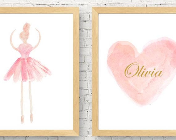 Ballerina Gift, Set of two Dance Prints