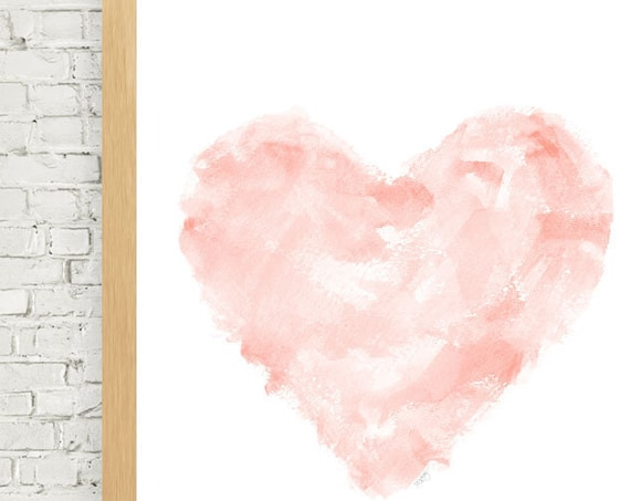 Blush Abstract Art, 11x14 Watercolor Print