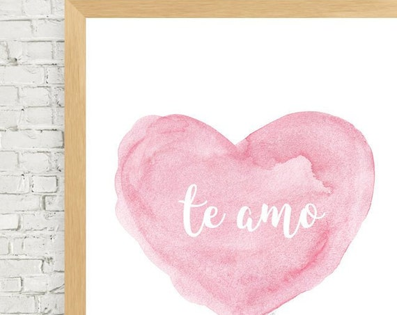 te amo, Spanish Nursery Art, 11x14