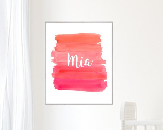 Playroom Poster with Custom Name, 12x16, 16x20 Brushstroke