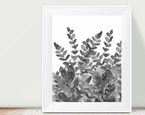 Fern Print for Home Office Wall Decor