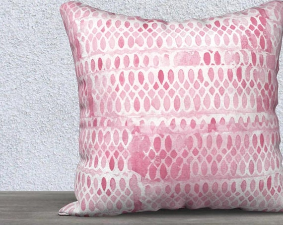 Pink Velvet Pillow Cover, 14x20, 18x18