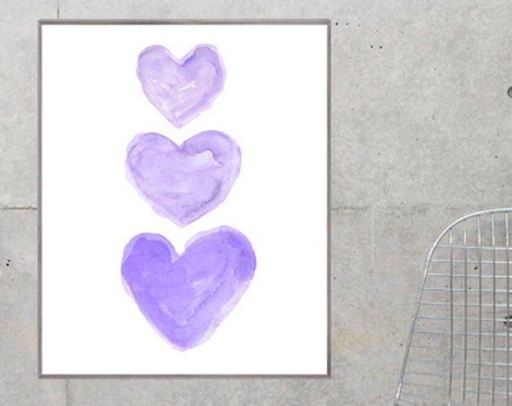 Purple Hearts Poster, 12x16, 16x10, 24x36