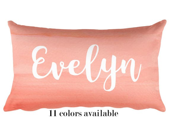 Personalized Coral Pillow for Girls, 12x20