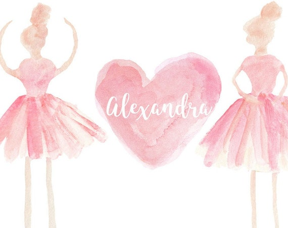 Personalized Ballerina Print for Young Dancer