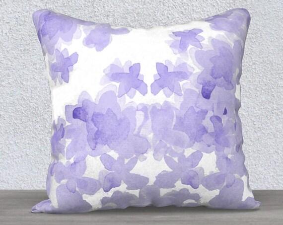 """Lavender Velvet Flower Pillow, 14""""x20"""", 18""""x18"""""""