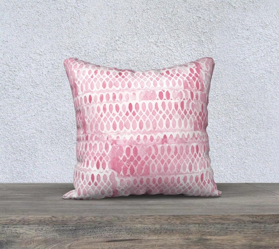 Pink Accent Pillowcase