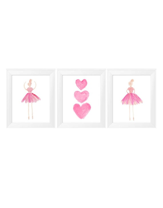 Ballet Dancer Artwork, 11x14 Set of 3