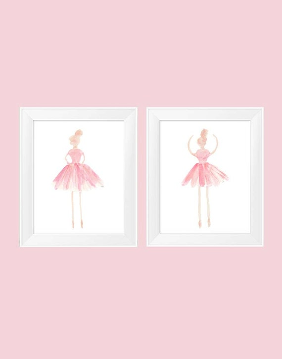 Blush Ballet Prints, Set of 2-11x14