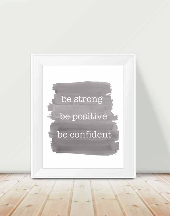 Inspirational Quote for Boys Room, 11x14 Print in Gray