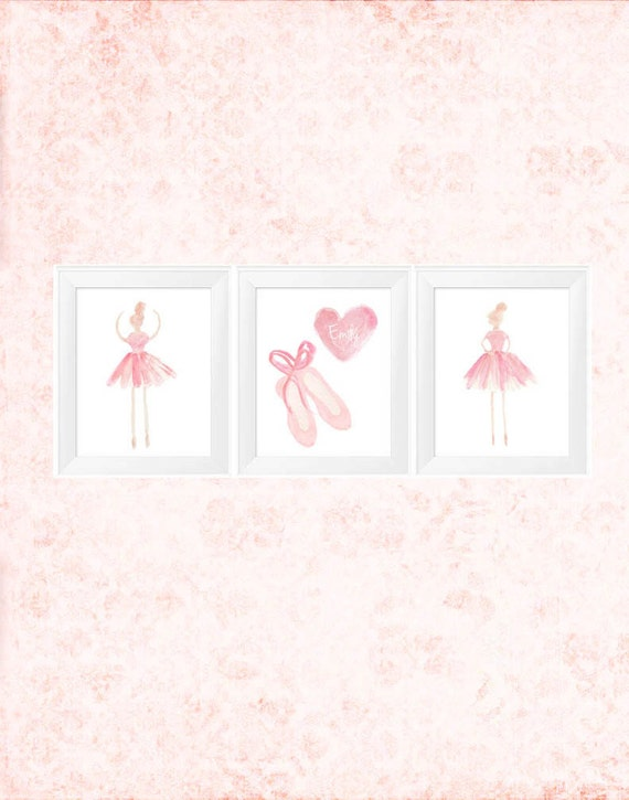 Ballerina Prints with Slippers and Tutus, 11x14 set of 3