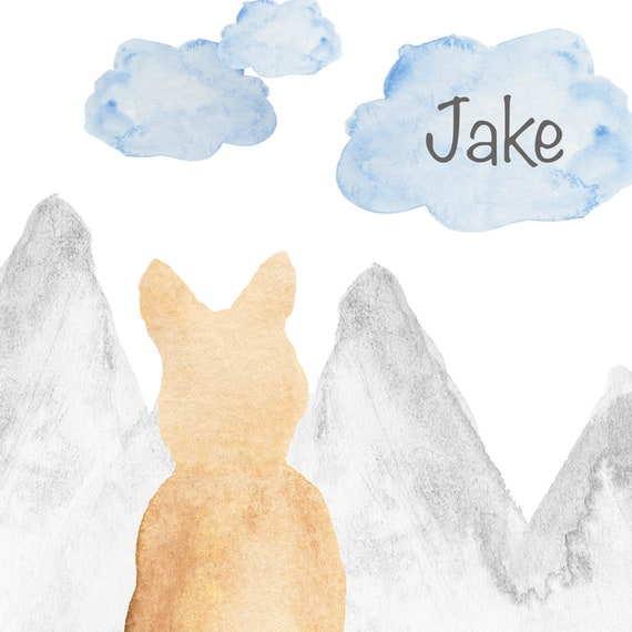 Dog and Nature Print, 8x10 Personalized Artwork