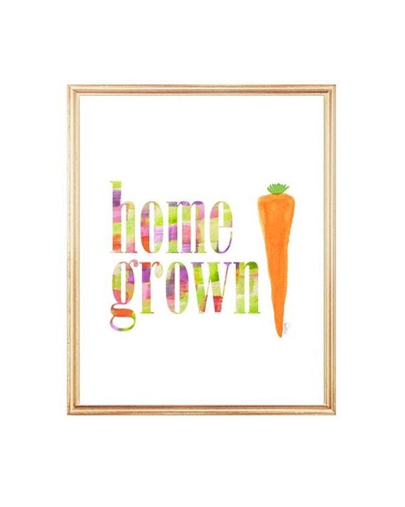 Organic Gardening Print