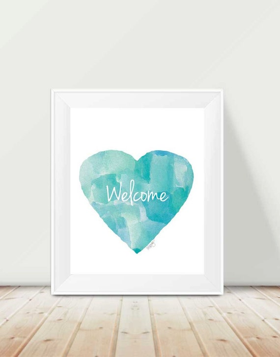 Beach House Welcome Sign, 11x14 Print