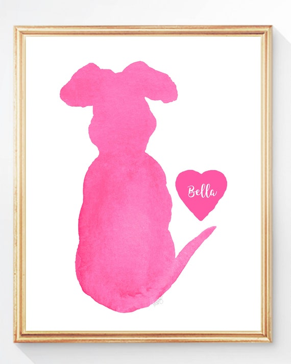 Kids Personalized Dog Print, 5x7, 8x10