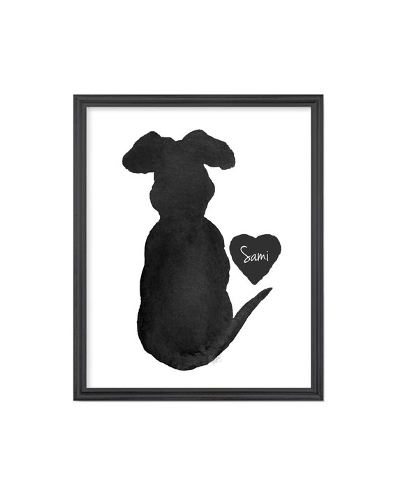 Black Lab Memorial Gift 8x10 Personalized Print