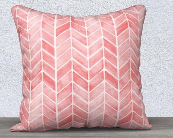 Blush Velvet Nursery Pillow Cover with Arrow Pattern, 14x20, 18x18