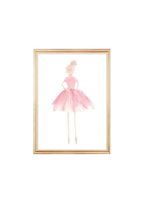 Ballerina Print for Little Girl, 5x7, 8x10