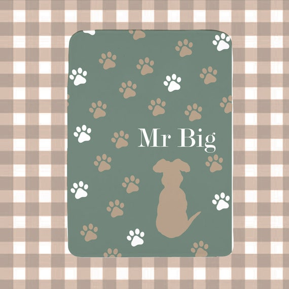 Pet Lover Gift; Boy Dog Blanket in Fleece with Personalized Name