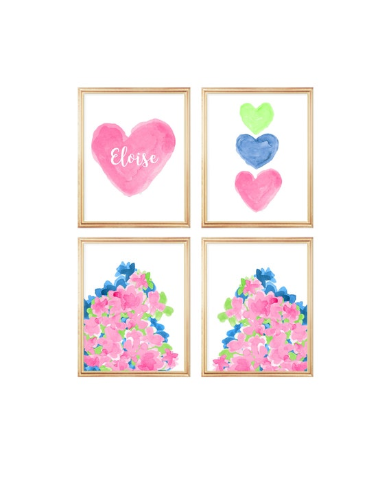 Tropical Flower Prints Gallery Wall, 8x10-Set of 4 Prints