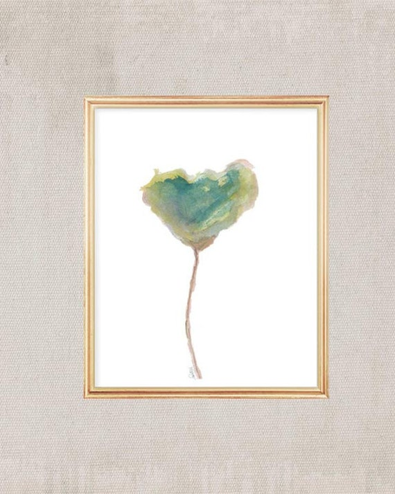 Tulip Watercolor Art Print, 8x10