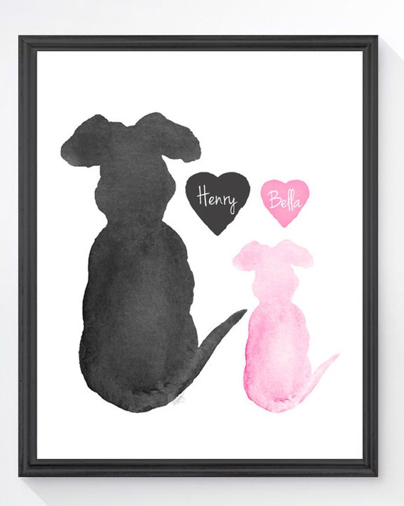 Big and Little Dog Gift, 8x10 Commemorative Print